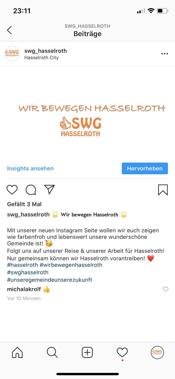 SWG Hasselroth Jetzt Neu Auch Auf Instagram Vertreten